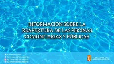 Información sobre la reapertura de las piscinas comunitarias y públicas
