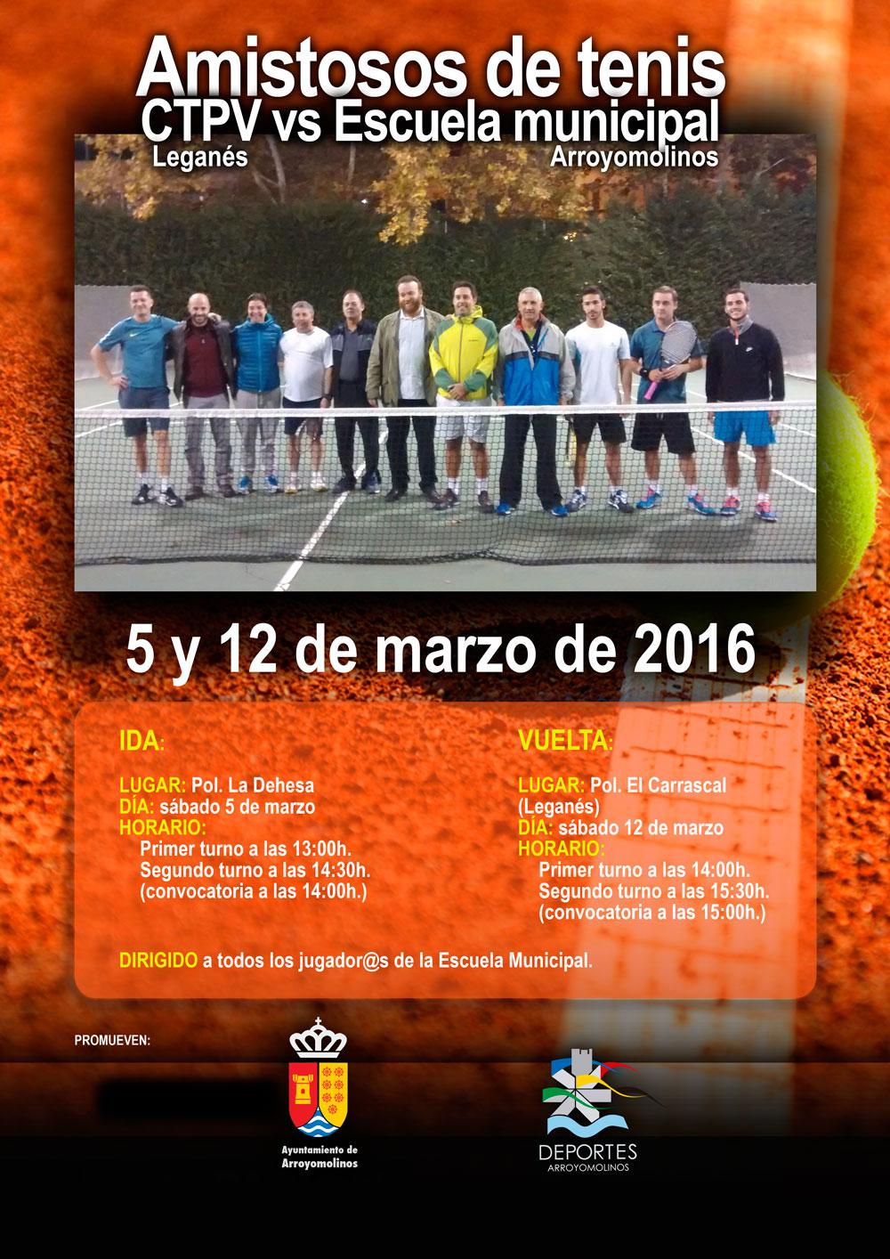 Amistosos tenis CTPV Leganés vs Arroyomolinos