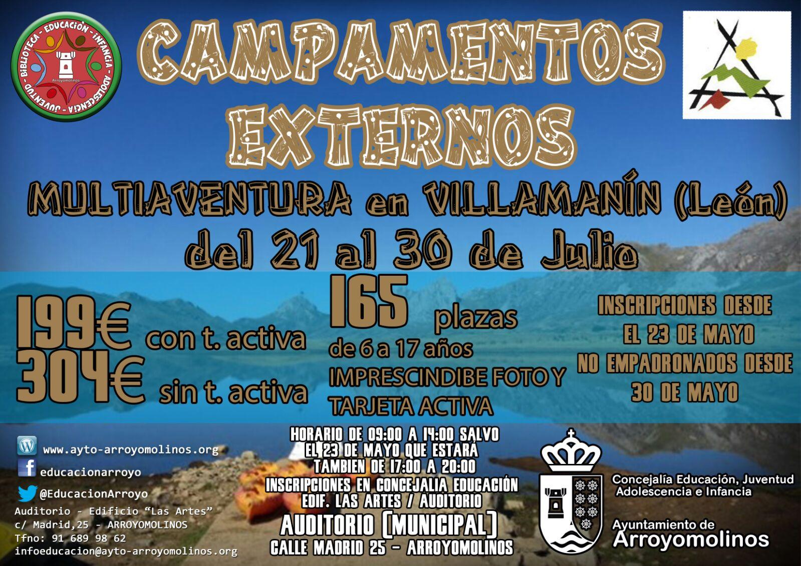 Campamentos externos de verano 2016 Arroyomolinos